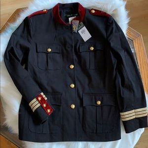 NEW LAUREN Ralph Lauren Black Military Jacket Coat